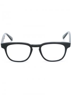 Оптические очки с круглой оправой Masunaga. Цвет: чёрный