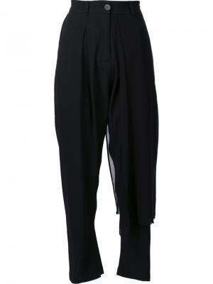 Укороченные брюки Isabel Benenato. Цвет: чёрный
