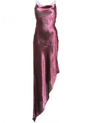 Asymmetric dress Juan Carlos Obando. Цвет: розовый и фиолетовый