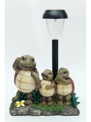 Садовый светильник Черепашки Magic Home. Цвет: хаки, серо-зеленый, серый меланж
