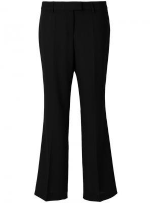 Расклешенные брюки с плиссировкой Boutique Moschino. Цвет: чёрный