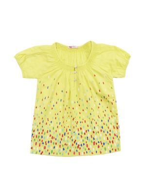 Блузка для девочки Cherubino. Цвет: желтый