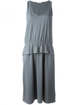 Платье с баской Société Anonyme. Цвет: серый