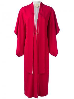 Длинное пальто-кимоно Antonio Berardi. Цвет: красный