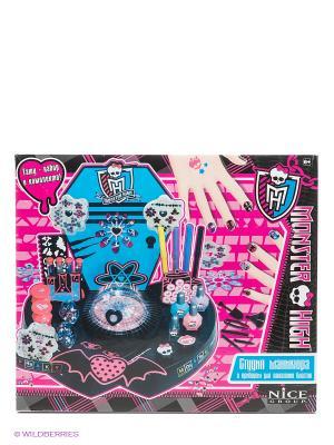 Набор Студия маникюра Monster High. Цвет: розовый, черный, голубой