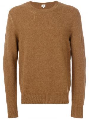 Трикотажный свитер Kent & Curwen. Цвет: коричневый
