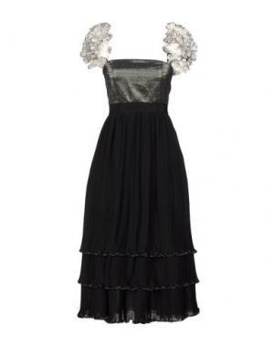 Платье длиной 3/4 DANIELE CARLOTTA. Цвет: черный