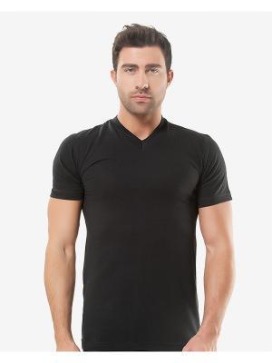 Футболка Oztas underwear. Цвет: черный