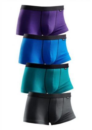 Трусы, 4 штуки Buffalo. Цвет: зеленый + синий + лиловый + темно-синий