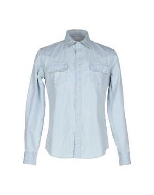Джинсовая рубашка VINTAGE 55. Цвет: синий