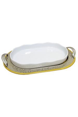 Блюдо Giorinox. Цвет: серебряный