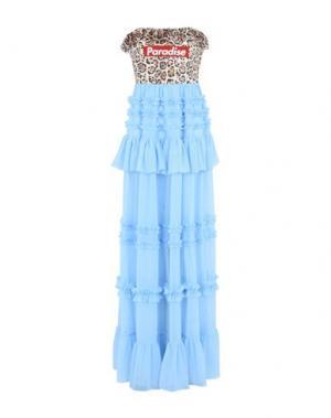 Длинное платье BROGNANO. Цвет: лазурный