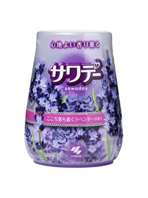 Освежитель воздуха для туалета Sawaday аромат белой и лиловой лаванды, 140 г KOBAYASHI. Цвет: прозрачный