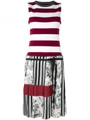 Полосатое платье IM Isola Marras I'M. Цвет: белый