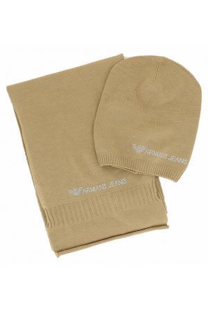 Комплект Armani Jeans. Цвет: коричневый