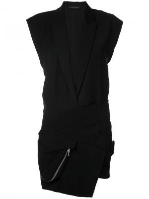 Короткое платье-смокинг Alexandre Vauthier. Цвет: чёрный