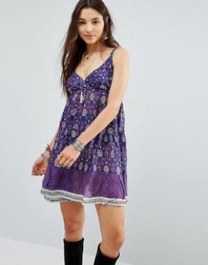 Raga Платье на тонких бретельках. Цвет: фиолетовый