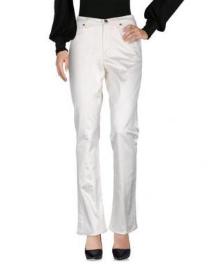 Повседневные брюки ANGELO MARANI. Цвет: слоновая кость