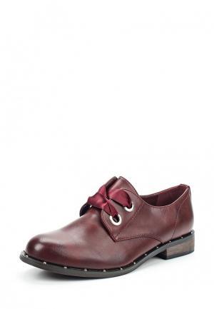 Ботинки Super Mode. Цвет: бордовый