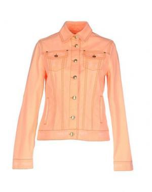 Джинсовая верхняя одежда MANUEL LUCIANO. Цвет: лососево-розовый