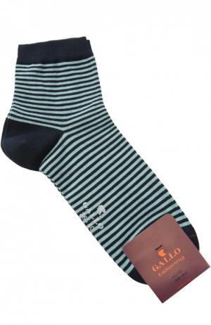 Хлопковые носки в полоску Gallo. Цвет: синий