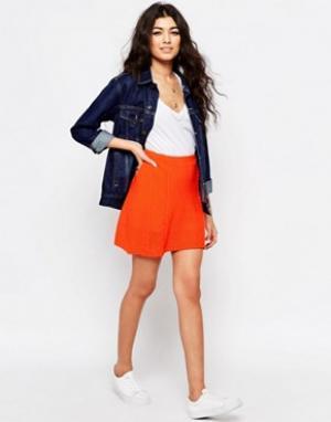 Never Fully Dressed Стеганая мини-юбка. Цвет: оранжевый