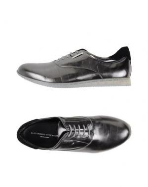 Низкие кеды и кроссовки ALESSANDRO DELL'ACQUA. Цвет: свинцово-серый