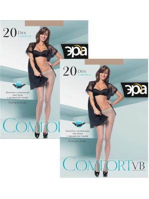 Колготки Comfort VB 20, 2 пары ЭРА.. Цвет: бронзовый