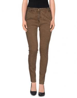 Повседневные брюки ADELE FADO. Цвет: коричневый