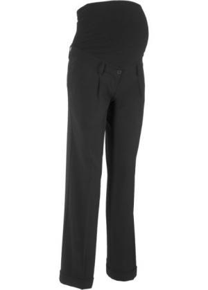 Широкие брюки для беременных (черный) bonprix. Цвет: черный