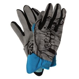 Перчатки сноубордические  Skull Blue Grenade. Цвет: голубой,серый