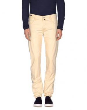 Джинсовые брюки PT05. Цвет: светло-желтый