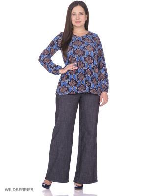 Блузка UNIT. Цвет: синий