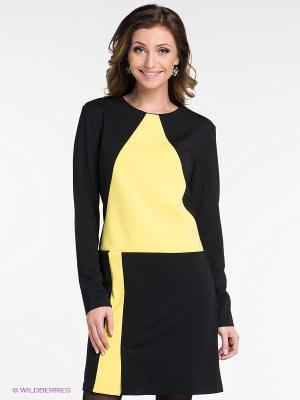 Платье Neohit. Цвет: черный, желтый