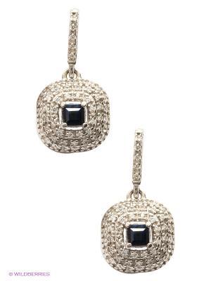 Серьги Lovely Jewelry. Цвет: синий, серебристый