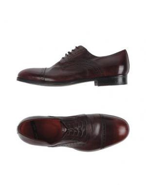 Обувь на шнурках ROLANDO STURLINI. Цвет: красно-коричневый