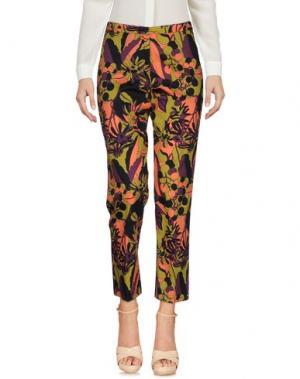 Повседневные брюки LAURA URBINATI. Цвет: кислотно-зеленый