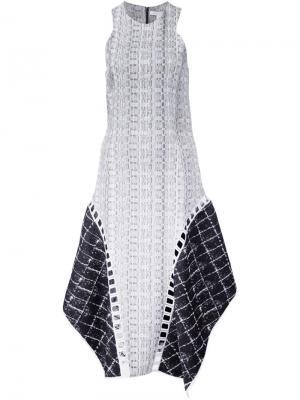 Платье с панельным дизайном Jonathan Simkhai. Цвет: белый