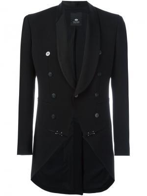 Пиджак с лацканами-шалькой Tom Rebl. Цвет: чёрный