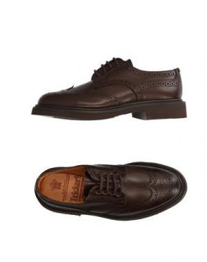 Обувь на шнурках TRICKER'S. Цвет: темно-коричневый