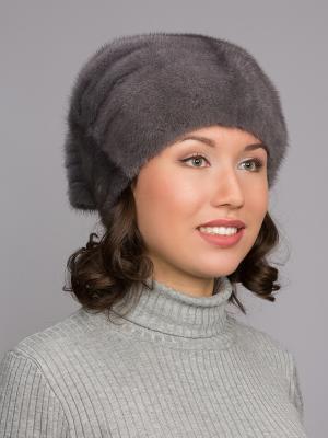 Шапка Slava Furs. Цвет: серо-голубой