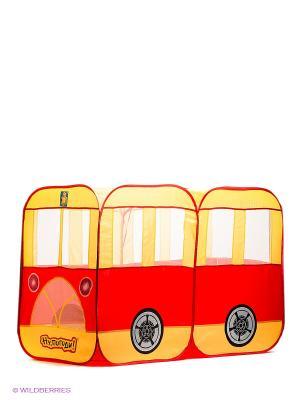 Детская игровая палатка-автобус Ну погоди! 1Toy. Цвет: красный, желтый