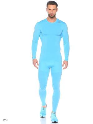 Тайтсы BASE TIGHT P  LGAQUA Adidas. Цвет: голубой