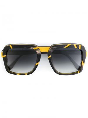 Солнцезащитные очки Ralph Vaessen. Цвет: чёрный