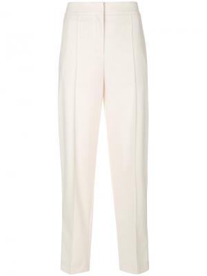 Классические брюки с завышенной талией Proenza Schouler. Цвет: белый