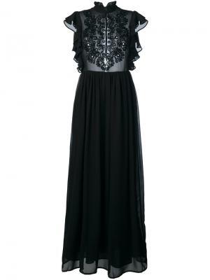 Платье с вышивкой Manoush. Цвет: чёрный