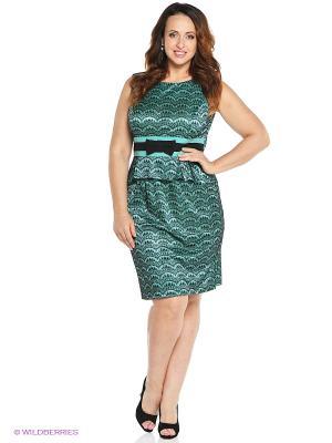 Платье VENUSITA. Цвет: зеленый