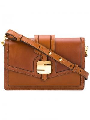 Сумка с пряжкой логотипом Serapian. Цвет: коричневый