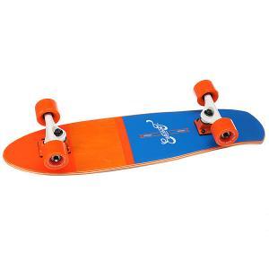 Скейт мини круизер  Shelby Orange 7.25 x 27 (68.5 см) Eastcoast. Цвет: оранжевый,синий