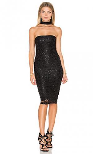 Платье миди stargazer Nookie. Цвет: черный